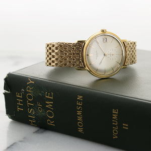 Patek Philippe Calatrava 3445J 18k YG  Excellent Gents 18k YG Silver with Gubelin Signature 35mm Automatic 1970s Yellow Gold N/A