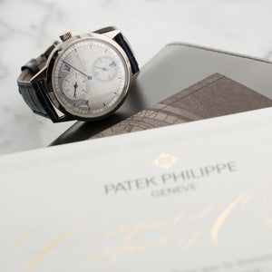 Patek Philippe Annual Calendar 5235G 18k WG  Unworn Gents 18k WG Silver 40.5mm Automatic 2017 Croc Original Box and Certificate