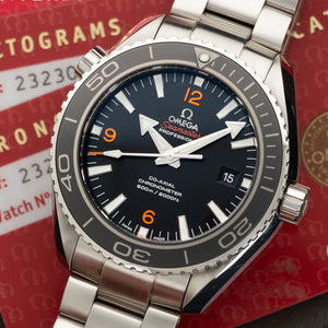 Omega Seamaster 232.30.46.21.01.003 Steel  Unworn Gents Steel Black 45.5mm Automatic Current Stainless Steel Box, Manuals, Warranty Card