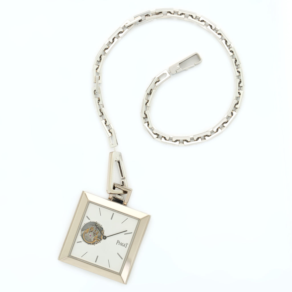 Piaget Altiplano P10443 18k WG  Mint Gents 18k WG Silver N/A Manual Current White Gold Chain N/A
