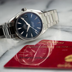 Omega Seamaster 231.10.39.21.03.002 Steel  Unworn Unisex Steel Blue 38.5mm Automatic Current Stainless Steel Box, Manuals, Warranty Card