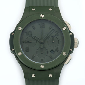 Hublot Big Bang 301.GI.5290.RG PVD Steel  New Gents PVD Steel Green 44.5mm Automatic Current Rubber B+P