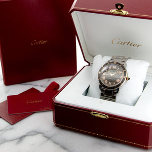 Cartier Croisiere W2RN0007 SS/RG  Some Hairline Scratches, Can Be Polished Upon Request Unisex SS/RG Grey with Rose Gold Numerals 42mm Automatic 2016 Stainless Steel Original Box and Certificate