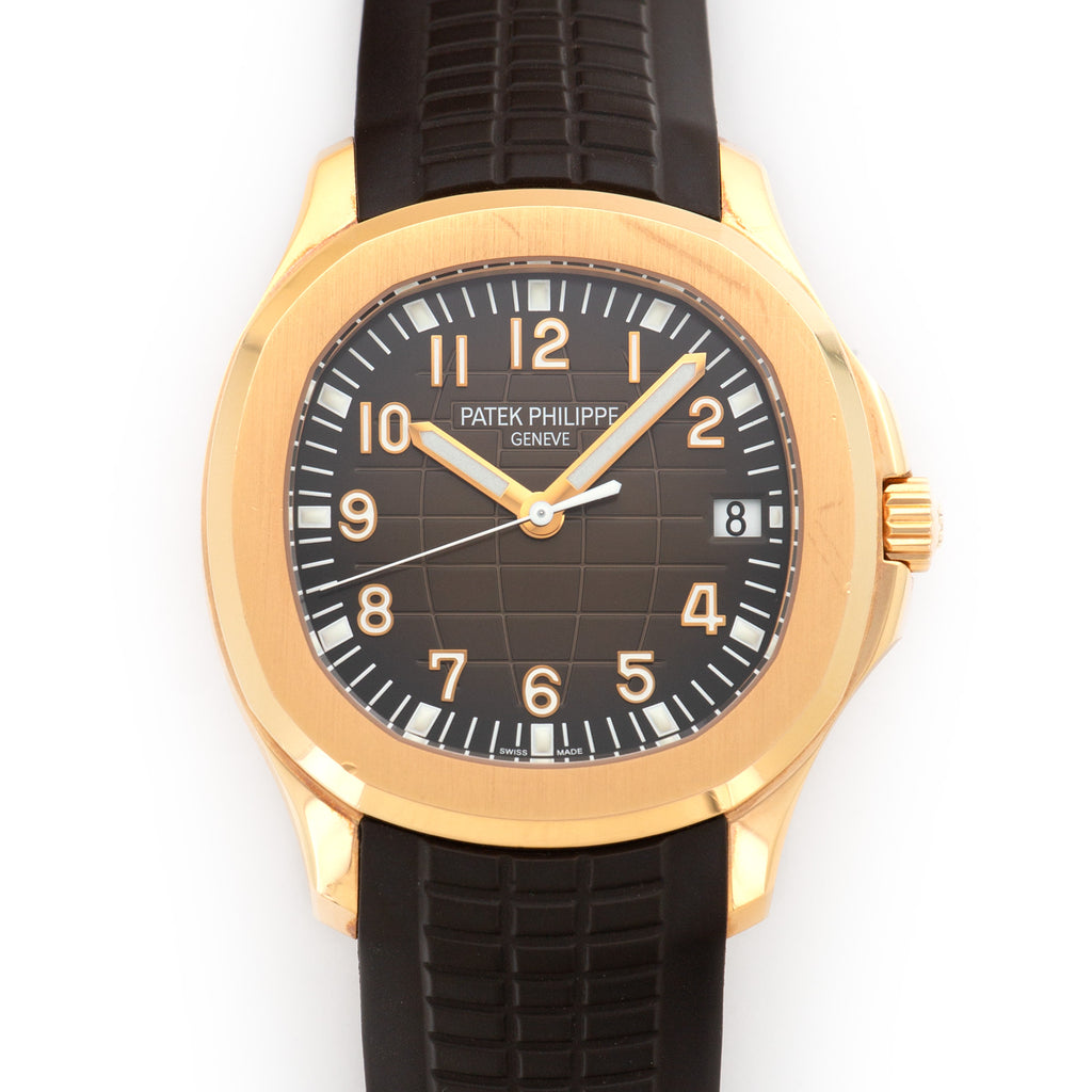 Patek Philippe Aquanaut 5167R 18k RG  Likely Never Polished, Original Finish Gents 18k RG Brown 40mm Automatic Late 2000s Rubber Leather Travel Case