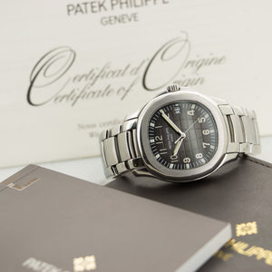 Patek Philippe Aquanaut 5167/1A Steel  Excellent Gents Steel Black 40mm Automatic 2011 Stainless Steel Bracelet Original Box and Certificate