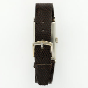 Patek Philippe Vintage 425 Platinum  Excellent Unisex Platinum Silver with Diamond Markers 20.5mm X 42mm Manual 1950s Brown Lizard Strap N/A