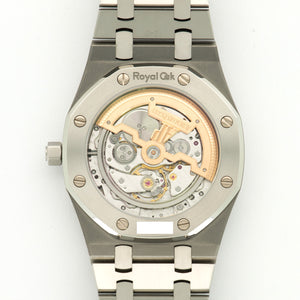 Audemars Piguet Royal Oak 15202ST.OO.1240ST.01 Steel  Likely Never Polished, Original Finish Gents Steel Blue 39mm Automatic 2010- Stainless Steel Bracelet Handmade Leather Travel Pouch