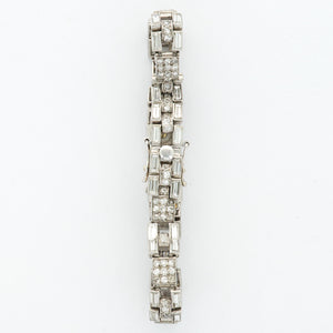 Cartier Vintage N/A Platinum  Excellent Ladies Platinum White 8.8mm X 26mm Manual 1920s Platinum with Baguette Diamonds N/A