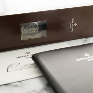 Patek Philippe Rare Handcrafts 5088P Platinum  Unworn, Single Sealed Gents Platinum Black 38mm Automatic 2015 Black Crocodile Original Box and Certificate