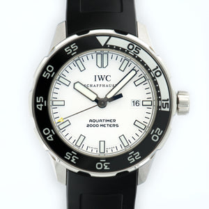 IWC Aquatimer IW356806 Steel  Excellent Gents Steel White 44mm Automatic 2000s Rubber N/A