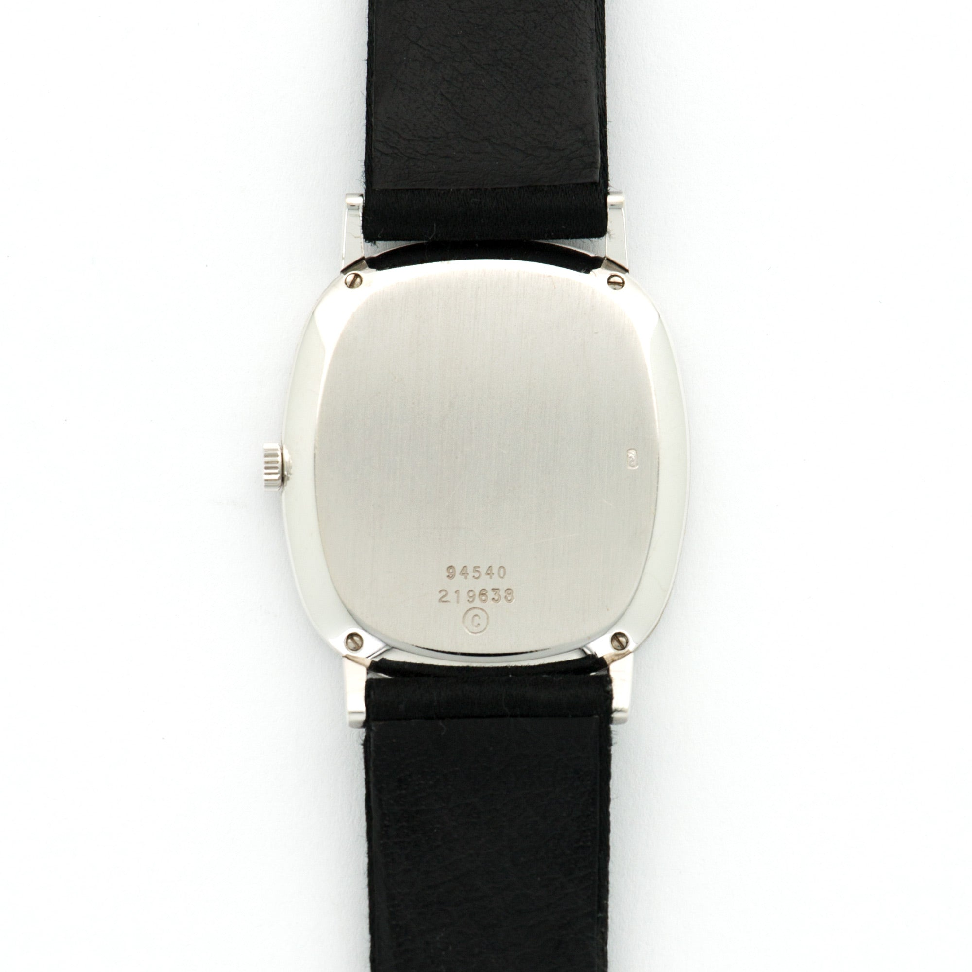 Piaget Vintage 94540 18k WG  Excellent Ladies 18k WG Black 26mm X 30mm Manual 1970s Black Satin N/A
