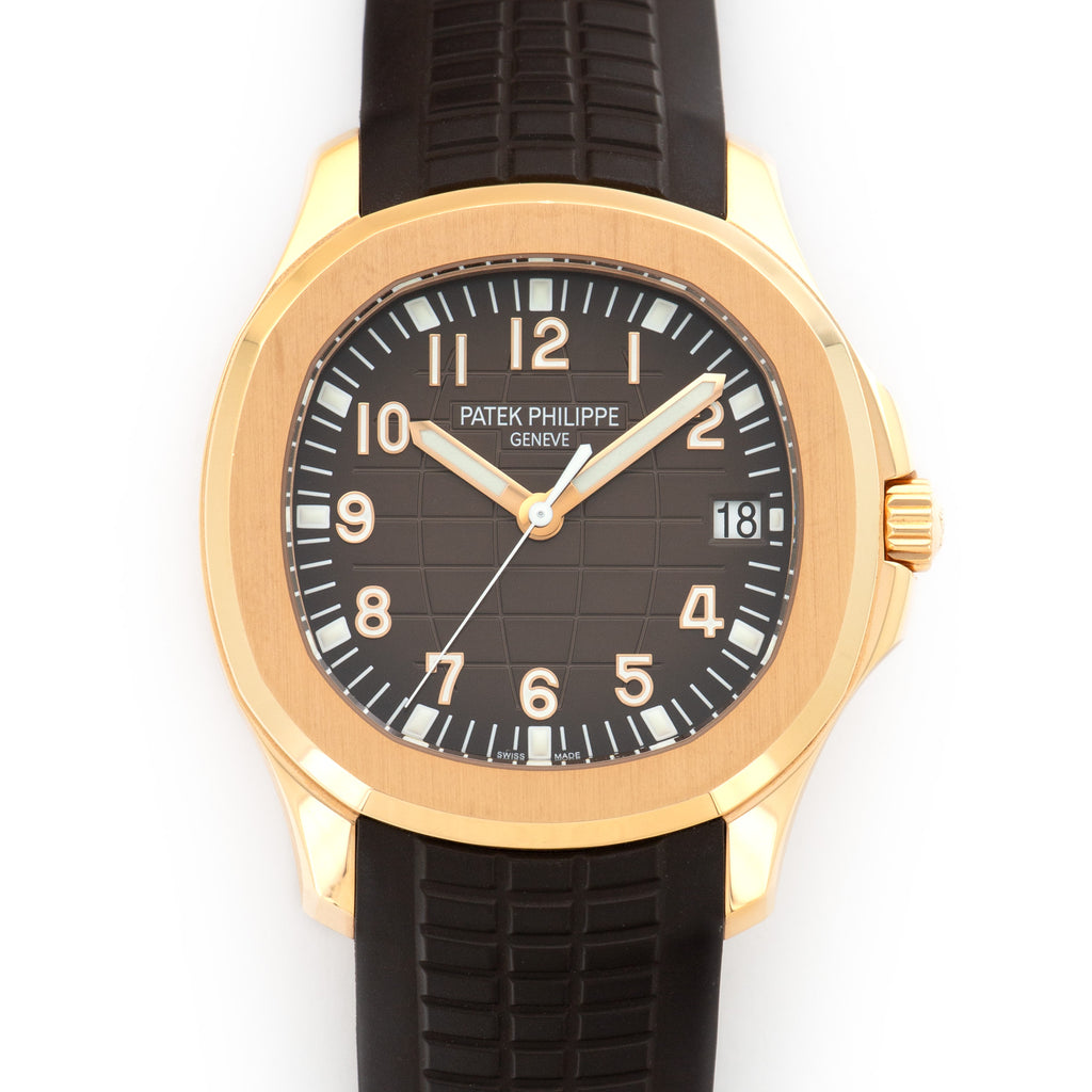 Patek Philippe Aquanaut 5167R-001 18k RG  Likely Never Polished, Original Finish Gents 18k RG Brown 40mm Automatic 2010 Rubber Original Box and Certificate