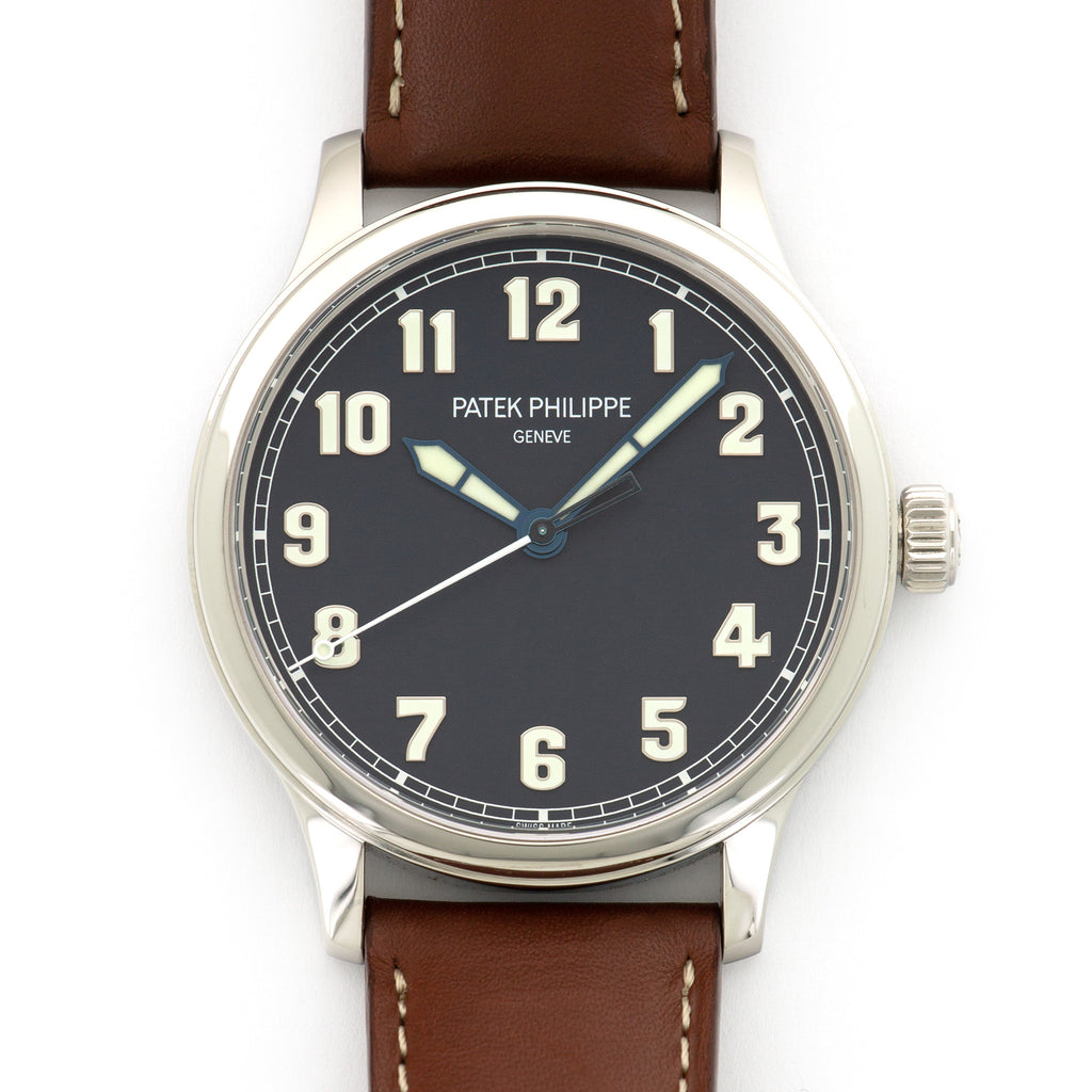 Patek Philippe Pilot 5522A-001 Steel  Unworn Gents Steel Blue 42mm Automatic 2017 Brown Calf Leather Original Box and Certificate