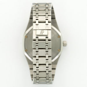Audemars Piguet Royal Oak 14790 Steel  Likely Never Polished, Original Finish Unisex Steel White 37mm Automatic 2005 Stainless Steel Bracelet Handmade Leather Travel Pouch