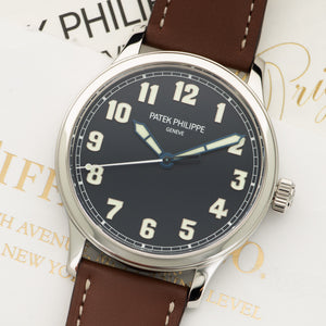 Patek Philippe Pilot 5522A Steel  Unworn Gents Steel Blue 42mm Automatic 2017 Calf Leather Original Box and Certificate