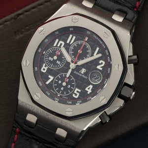 Audemars Piguet Royal Oak Offshore 26470ST.OO.A101.01 Steel  Overall Mint Original Condition Gents Steel Black with Luminous Markers 42mm Automatic 2016- Black Crocodile Original Box
