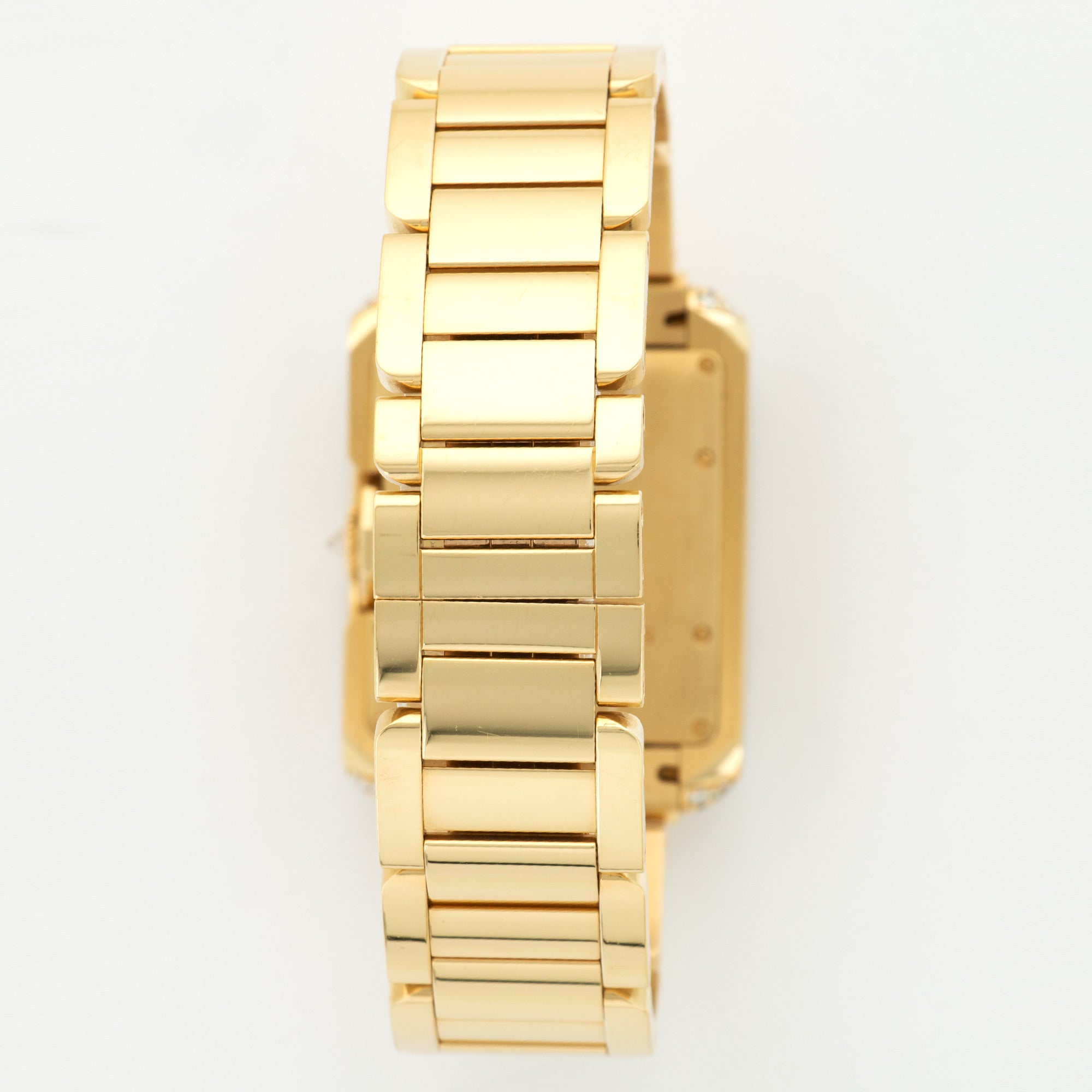Cartier Tank Anglaise WT100006 18k YG  Mint NO STYLE SPECIFIED 18k YG Silver with Roman Numerals 39.2mm X 29.8mm Automatic 2017 Yellow Gold Bracelet B+P