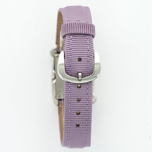 Henry Dunay Sabi N/A Stainless Steel  Unworn Ladies Stainless Steel Violet Purple 21.2mm X 29mm Quartz Current Fabric N/A