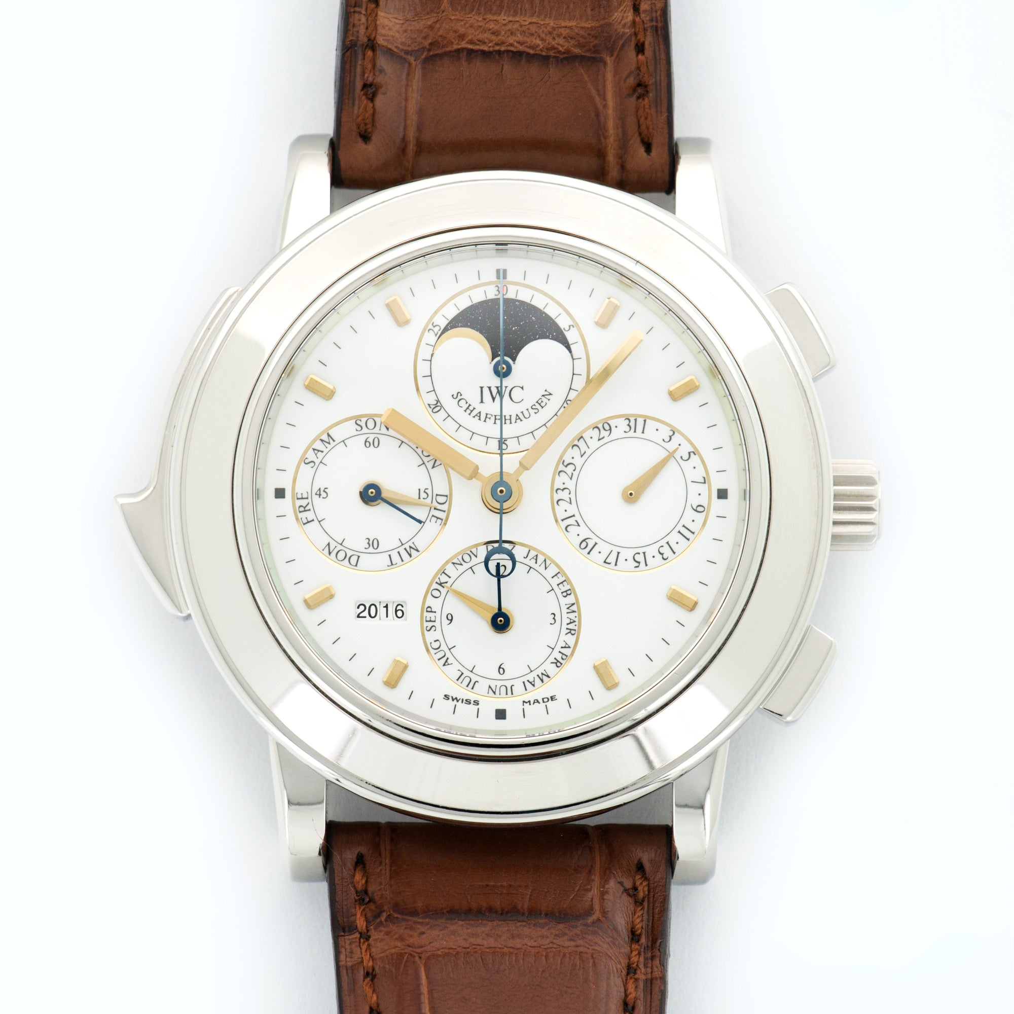 IWC Grande Complication 1991 PLT  Excellent NO STYLE SPECIFIED PLT White 42.6mm Automatic 1991 Brown Crocodile B+P