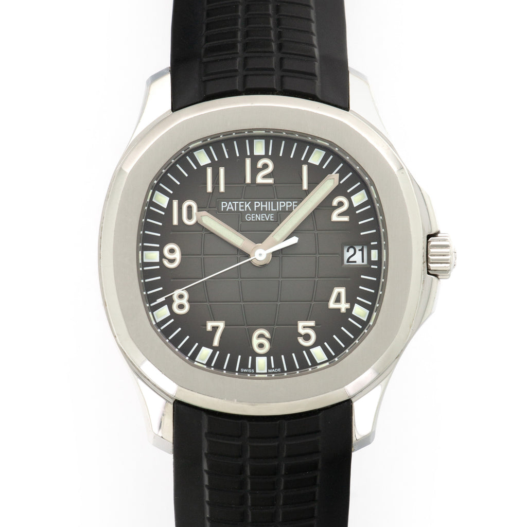 Patek Philippe Aquanaut 5167A-001 Steel  Some Hairline Scratches, Can Be Polished Upon Request Gents Steel Black 40mm Automatic Current Rubber Leather Travel Case