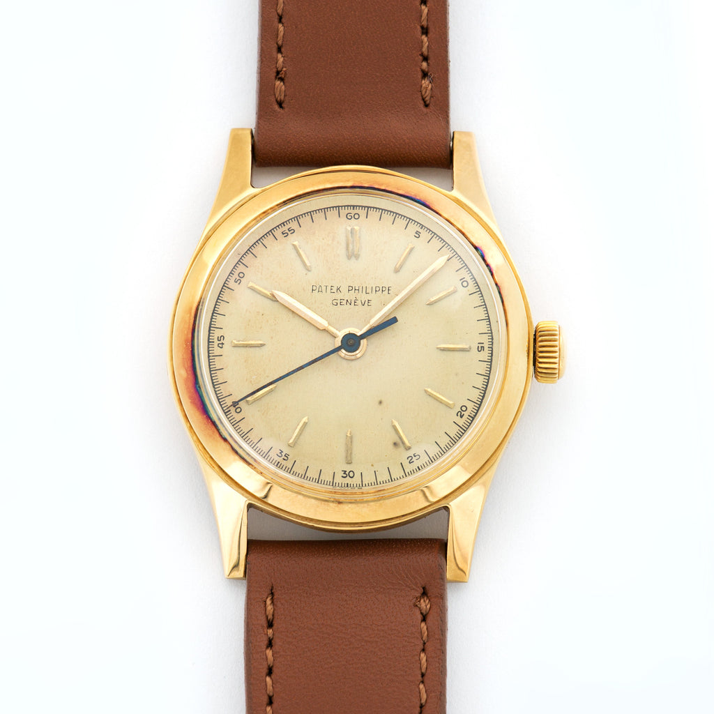 Patek Philippe Vintage 2483 18k YG  Very Good Gents 18k YG Gold 33mm Manual 1960s Calf Leather Archive Paper