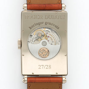 Roger Dubuis Much More M34 5739 S 18k WG  Excellent Gents 18k WG Salmon 34mm X 47mm Automatic 2000s Brown Crocodile B+P