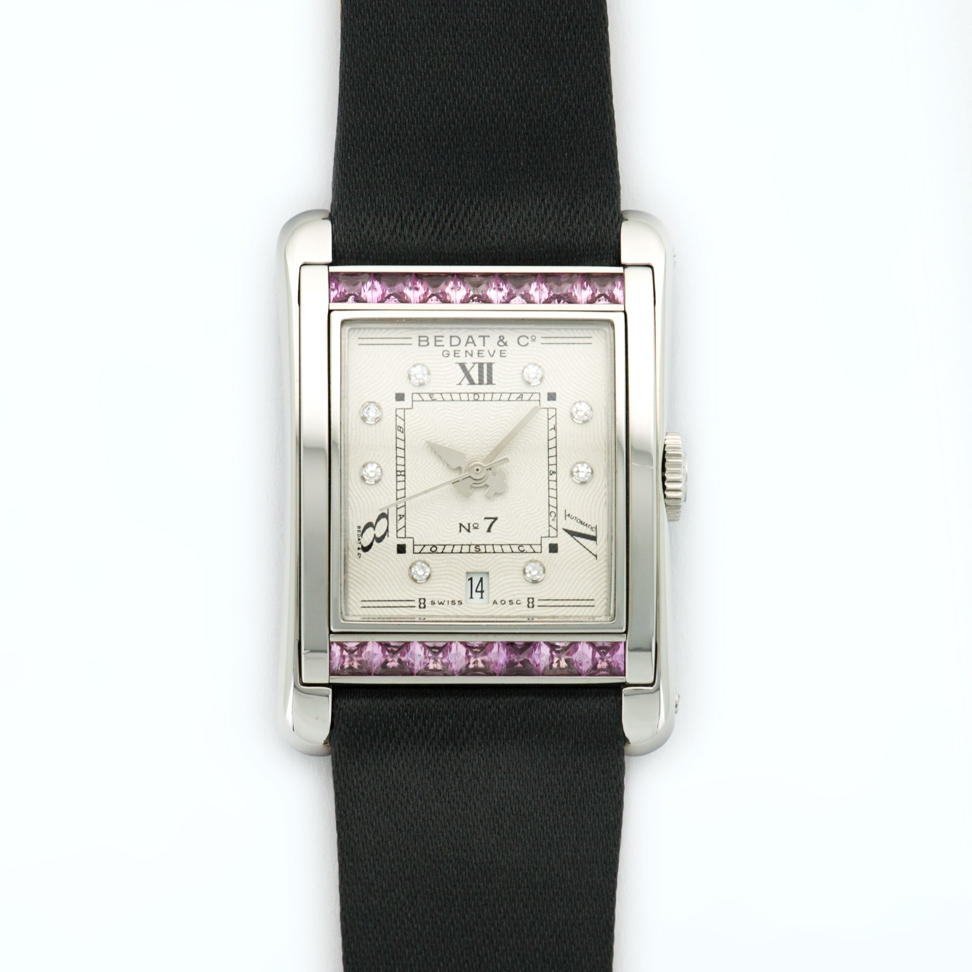 Bedat & Co No. 7 728 Stainless Steel  Unworn Ladies Stainless Steel Silver with Diamond Markers 25.6mm X 36.7mm Automatic 2000s Fabric B+P