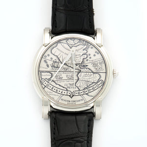Vacheron Constantin Mercator 43050 PLT  Excellent Gents PLT Silver 36mm Automatic 2000s Black Crocodile N/A