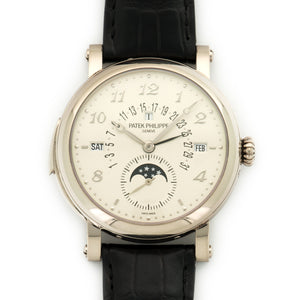 Patek Philippe Grand Complication 5213G 18k WG  Likely Never Polished, Original Finish Gents 18k WG Silver 40.6mm Automatic 2012 Black Crocodile Strap Original Box and Certificate