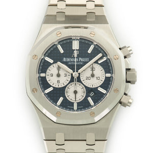 Audemars Piguet Royal Oak Chrono 26331ST.OO.1220ST.01 Steel  Unworn Gents Steel Blue with Silver Sub Dials 41mm Automatic 2017 Stainless Steel Bracelet Original Box and Certificate