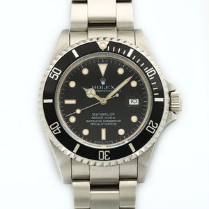 Rolex Sea-Dweller 16660 Steel  Excellent Gents Steel Black 40mm Automatic 1989 Stainless Steel Bracelet N/A