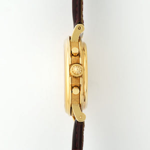 Breguet Marine Marine 18k YG  Excellent Gents 18k YG Silver 36mm Automatic 2000 Burgundy Crocodile Strap (Used Condition) N/A