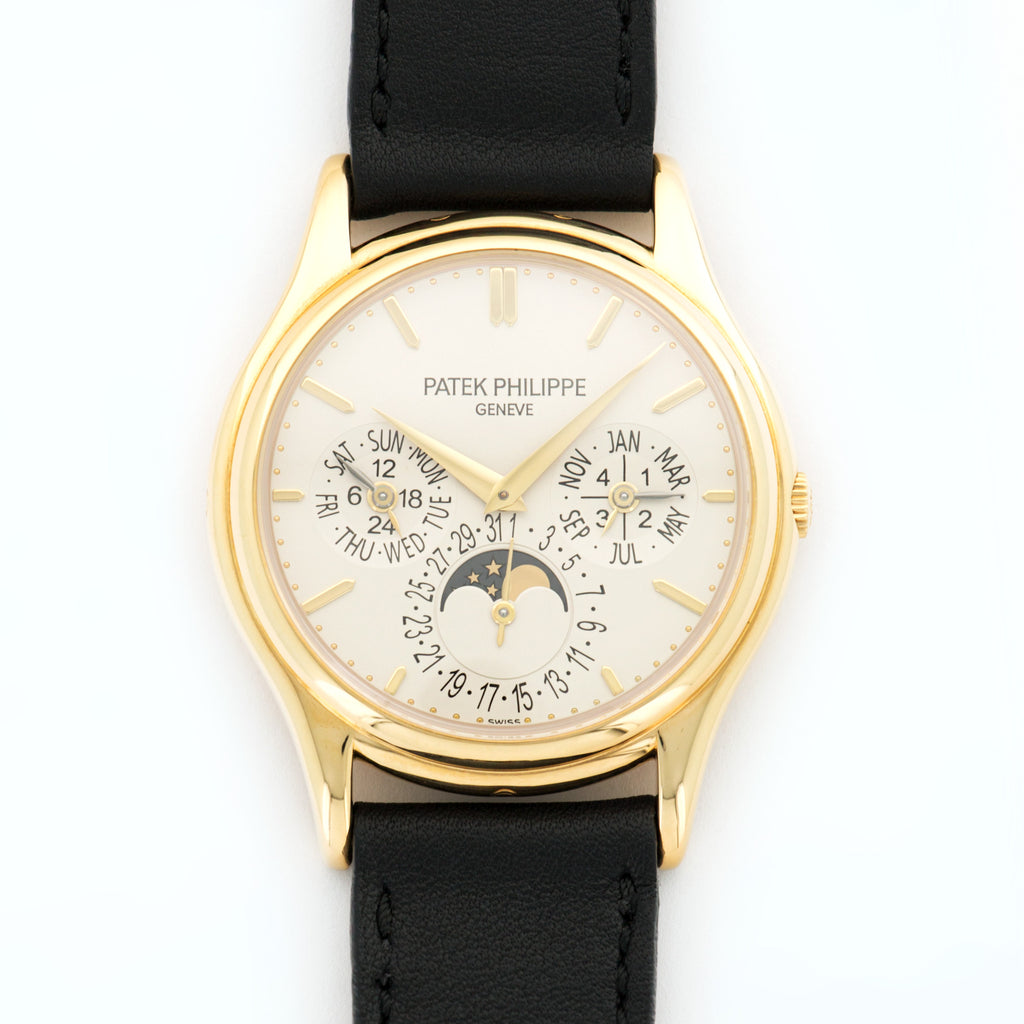 Patek Philippe Perpetual Calendar 5140J 18k YG  Very Good Gents 18k YG Silver 37mm Automatic 2000s Handmade Italian Leather N/A