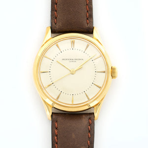 Vacheron Constantin Vintage N/A 18k YG  Very Good Gents 18k YG Cream 34.5mm Automatic 1960s Calf Leather N/A