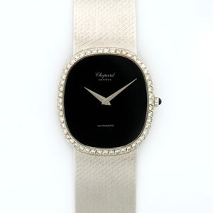 Chopard Vintage N/A 18k WG  Excellent Unisex 18k WG Onyx 30mm Automatic 1970s White Gold Bracelet (185mm) N/A