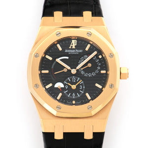 Audemars Piguet Royal Oak 26120OR.OO.D002CR 18k RG  Mint Gents 18k RG Black 39mm Automatic 2012 black Croc. Original Warranty Paper