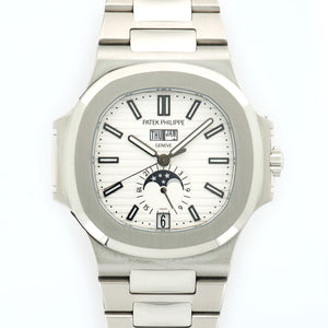 Patek Philippe Nautilus 5726/1A-010 Steel  Excellent Gents Steel White 40.5mm Automatic Current Steel Bracelet N/A