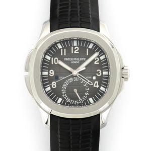 Patek Philippe Aquanaut 5164A Steel  Mint Gents Steel Black 40mm Automatic Current Rubber Leather Travel Case