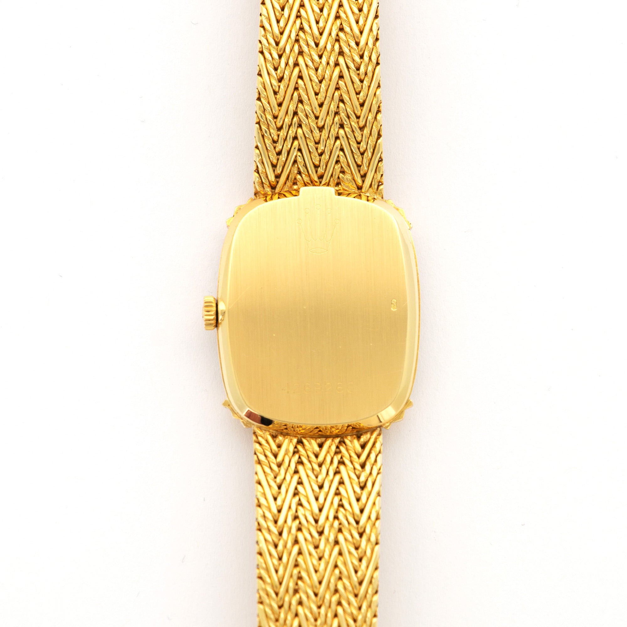 Rolex Cellini N/A 18k YG  Excellent Ladies 18k YG Gold Dial 23 X 28mm Manual 1980s Yellow Gold Bracelet (175mm) Leather Travel Case