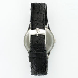 Patek Philippe Vintage 3923a Steel  Excellent Gents Steel Silver 33mm Manual 1980s Black Crocodile Strap N/A