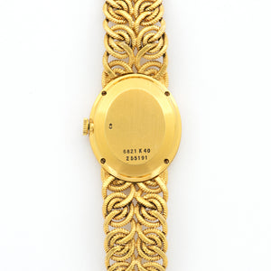 Piaget Vintage 6821 18k YG  Excellent Ladies 18k YG Gold 22 X 26mm Manual 1970s Yellow Gold Bracelet (152mm) N/A
