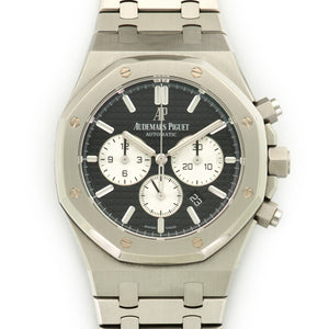 Audemars Piguet Royal Oak Chrono 26331ST.OO.1220ST.02 Steel  Mint Gents Steel Black with Silver Sub Dials 41mm Automatic 2017 Stainless Steel Bracelet Original Box and Certificate