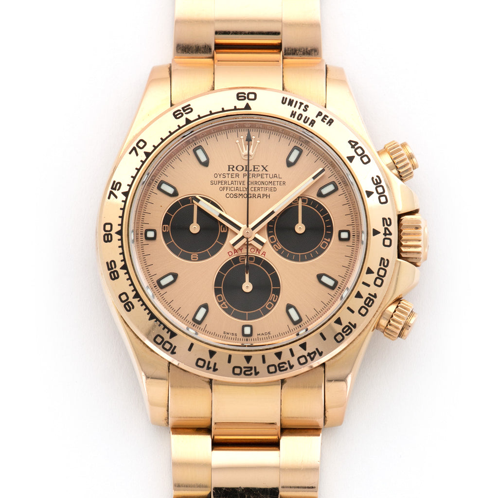 Rolex Daytona 116505 18k RG  Mint Unisex 18k RG Rose with Black Subdials 40mm Automatic 2016 Rose Gold Original Box and Certificate