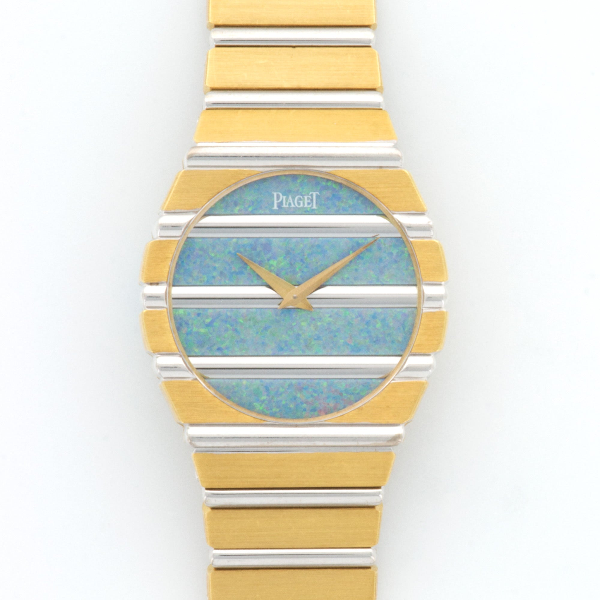 Piaget Polo 791 WG/YG  Very Good Unisex WG/YG Opal 29.9mm Quartz 1980s Yellow and White Gold Bracelet (157mm)` Paper