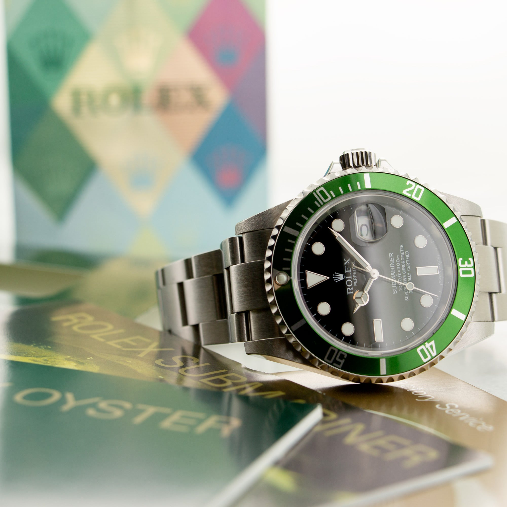 Rolex Submariner 16610LV Steel  Likely Never Polished, Original Finish Gents Steel Black 40mm Automatic 2007 Stainless Steel Original Box and Certificate