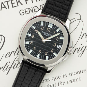 Patek Philippe Aquanaut 5065A Steel  Mint Gents Steel Black 39mm Automatic Early 2000s Rubber Original Box and Certificate