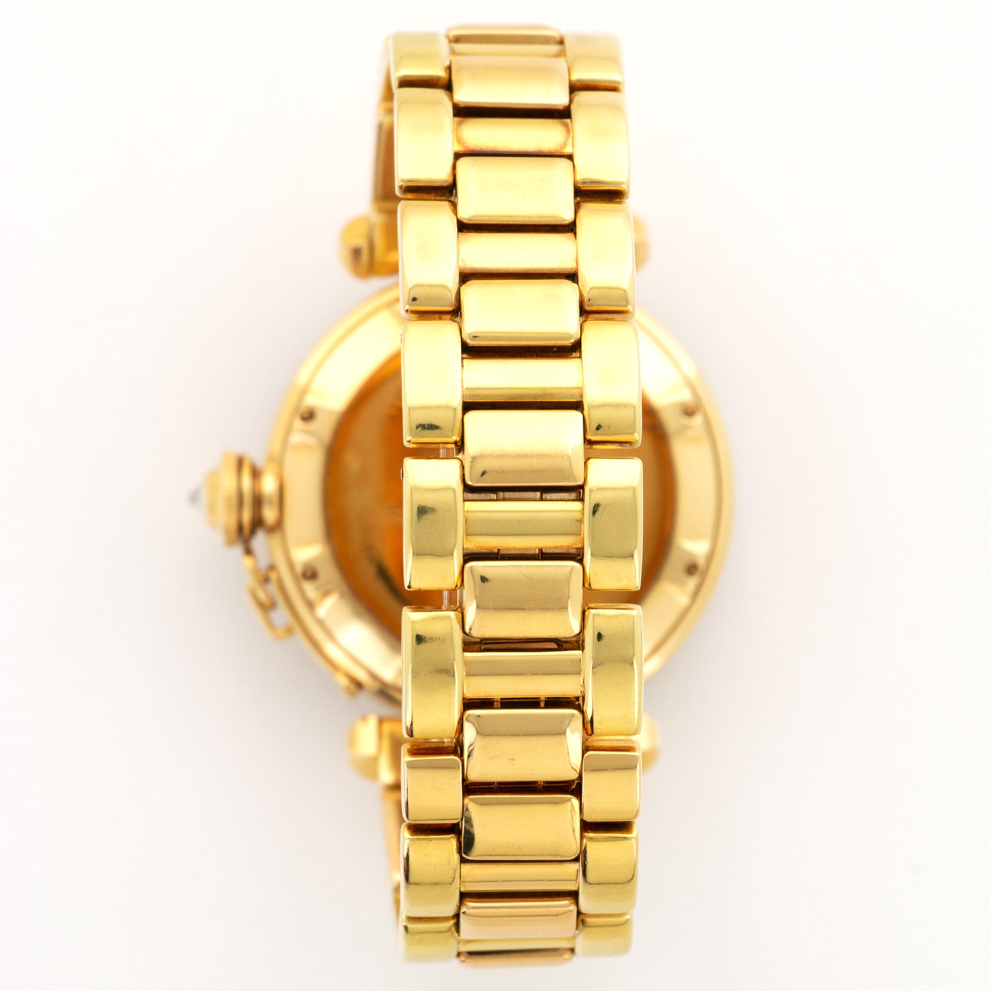 Cartier Pasha 1023 18k YG  Mint Unisex 18k YG Mother of Pearl 38mm Automatic 1990s Yellow Gold Bracelet Original Box