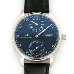 IWC Portuguese Regulateur IW544302 Platinum  Excellent Gents Platinum Black 43 mm Manual Black Crocodile Box, Manuals, Warranty Card