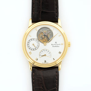 Blancpain Tourbillon NA 18k YG  Very Good Gents 18k YG White 33.5mm Manual 1990s Croc Box