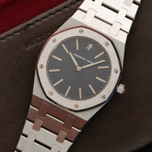 Audemars Piguet Royal Oak N/A Steel  Mint Gents Steel Grey 34mm Quartz 2000s Steel Bracelet Leather Travel Case